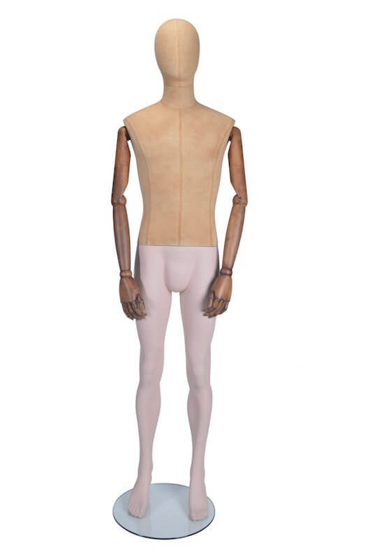 HB1002239 - Standing Male Mannequin - Moveable Arms (Straight)