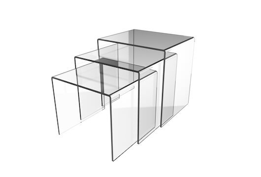 HB1002161 - Acrylic Display Tables Set Of 3 (5mm)